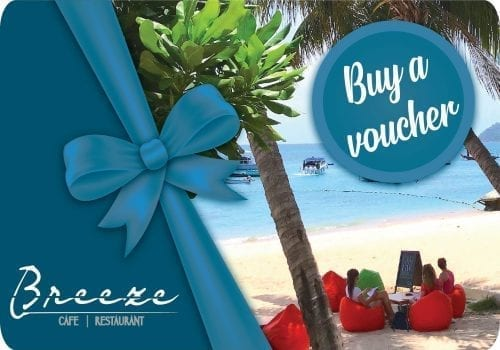 breezekohtao.com 1000 baht gift vouchers on sale