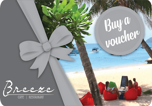 breezekohtao.com 1500 baht gift vouchers on sale