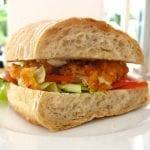 breezekohtao.com Crispy fried chicken sandwich - Aioli and chopped salad