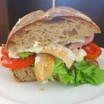 breezekohtao.com sandwich - Grilled chicken, bacon, soft boiled egg, cos lettuce, tomato and Caesar sauce